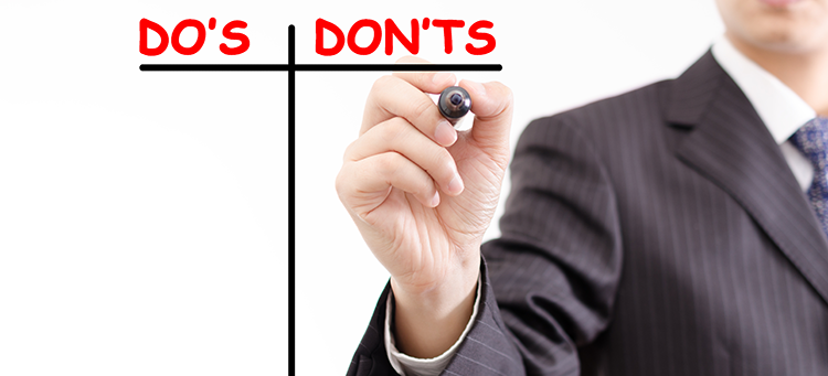 Test Day Do's and Don'ts