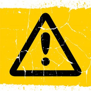 Attention Sign Icon Yellow Grunge Background